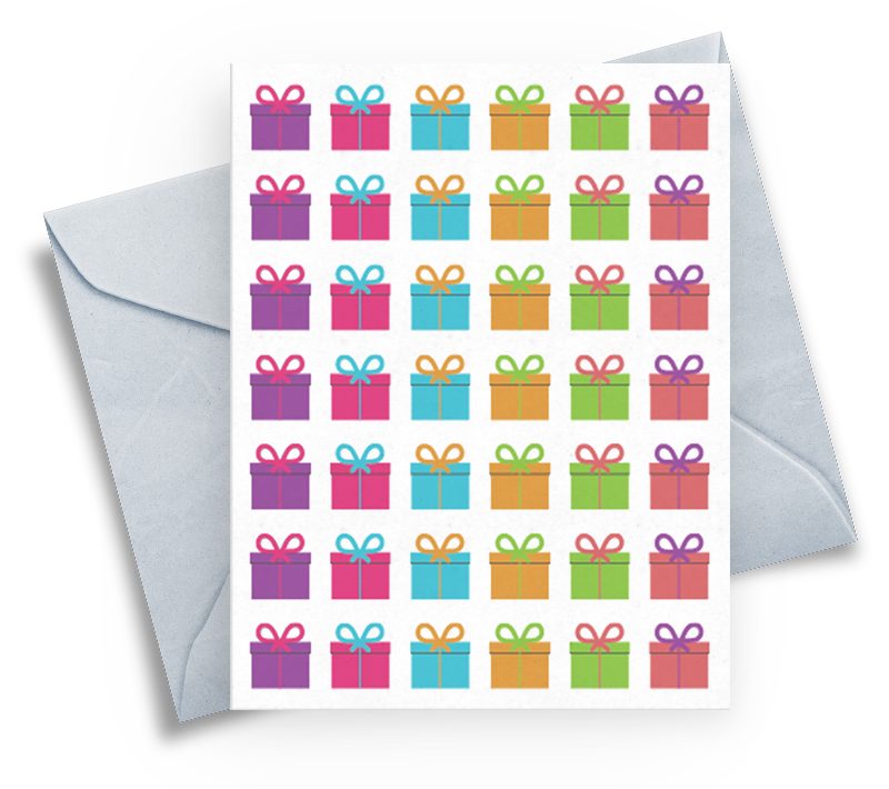 Happy Birthday Card with Gifts