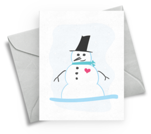 Snowman Winter Holiday Card