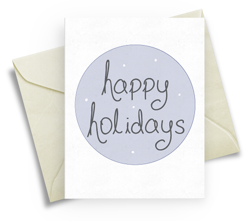 Happy Holidays Christmas Card - Simple