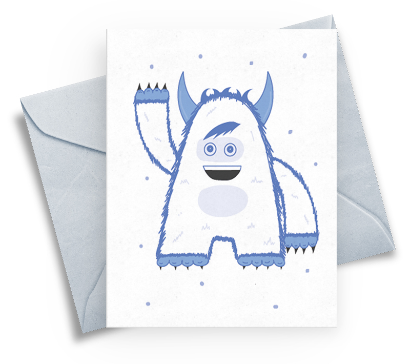 Greeting Card - Saying Hello in Winter
