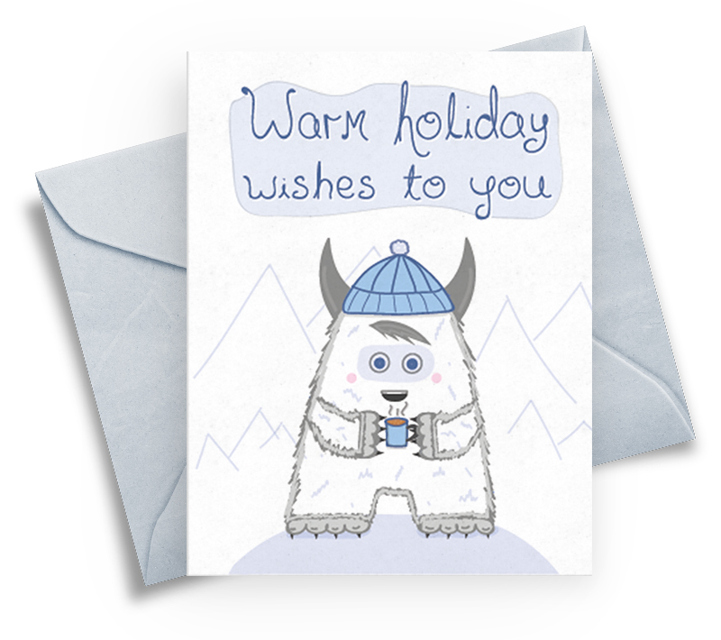 Holiday Card for Winter and Christmas - Wishes